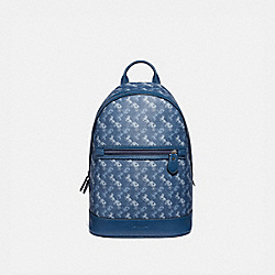 COACH 91532 - BARROW BACKPACK WITH HORSE AND CARRIAGE PRINT JI/TRUE BLUE