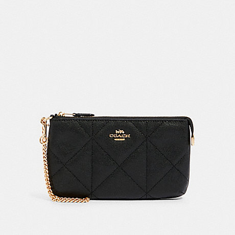 COACH 91547 LARGE WRISTLET WITH QUILTING IM/BLACK