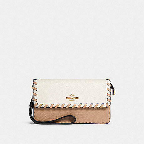 COACH 91551 FOLODVER WRISTLET WITH WHIPSTITCH IM/CHALK-MULTI
