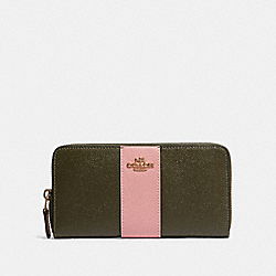 COACH 91574 Accordion Zip Wallet In Colorblock With Stripe IM/CANTEEN MULTI