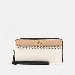 COACH 91576 Accordion Zip Wallet With Whipstitch IM/CHALK MULTI