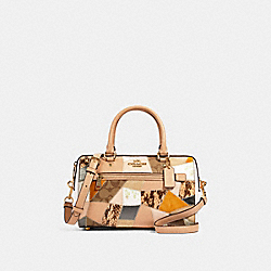 ROWAN SATCHEL WITH PATCHWORK - 91597 - IM/CHALK MULTI