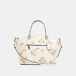 PRAIRIE SATCHEL WITH ROSE BOUQUET PRINT - 91603 - IM/CHALK MULTI