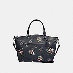 PRAIRIE SATCHEL WITH ROSE BOUQUET PRINT - 91603 - SV/MIDNIGHT MULTI