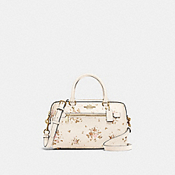 ROWAN SATCHEL WITH ROSE BOUQUET PRINT - 91604 - IM/CHALK MULTI