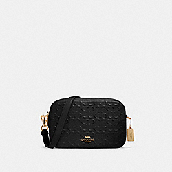 JES CROSSBODY IN SIGNATURE LEATHER - 91613 - IM/BLACK