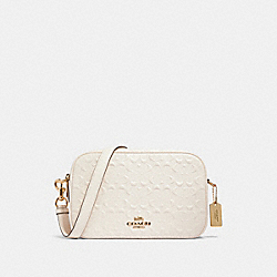 JES CROSSBODY IN SIGNATURE LEATHER - 91613 - IM/CHALK