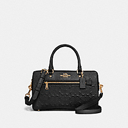 COACH 91614 Rowan Satchel In Signature Leather IM/BLACK