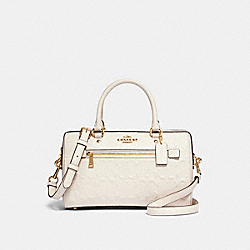COACH 91614 Rowan Satchel In Signature Leather IM/CHALK