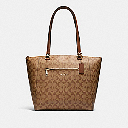 COACH 91616 - PRAIRIE TOTE IN SIGNATURE CANVAS IM/KHAKI SADDLE 2