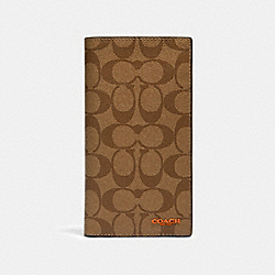 SLIM PASSPORT WALLET IN COLORBLOCK SIGNATURE CANVAS - 91645 - QB/TAN ADMIRAL MULTI