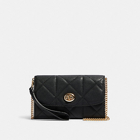 COACH 91647 CHAIN CROSSBODY WITH QUILTING IM/BLACK