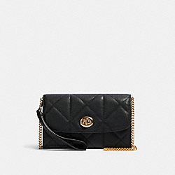 CHAIN CROSSBODY WITH QUILTING - 91647 - IM/BLACK