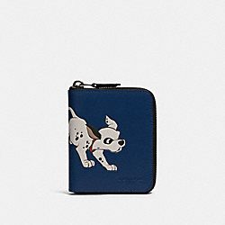 COACH 91652 - DISNEY X COACH MEDIUM ZIP AROUND WALLET WITH DALMATIAN QB/ADMIRAL
