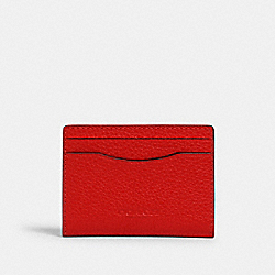 COACH 91661 - MAGNETIC CARD CASE QB/MIAMI RED