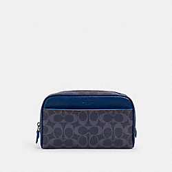 OVERNIGHT TRAVEL KIT IN SIGNATURE CANVAS - 91676 - QB/DENIM MULTI