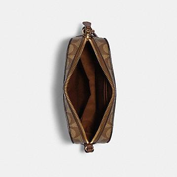 コーチ公式アウトレット | ミニ カメラ バッグ シグネチャー キャンバス | ミニバッグ/ボディバッグ/ベルトバッグ