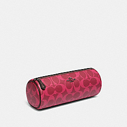 COACH 91686 - MAKEUP BRUSH HOLDER IN SIGNATURE CANVAS QB/MAGENTA