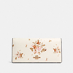 COACH 91746 Bifold Wallet With Rose Bouquet Print IM/CHALK MULTI