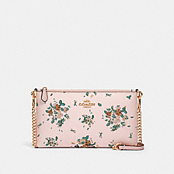 COACH 91758 Zip Top Crossbody With Rose Bouquet Print IM/BLOSSOM MULTI