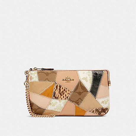 COACH 91767 LARGE WRISTLET WITH PATCHWORK IM/CHALK MULTI