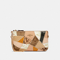 LARGE WRISTLET WITH PATCHWORK - 91767 - IM/CHALK MULTI