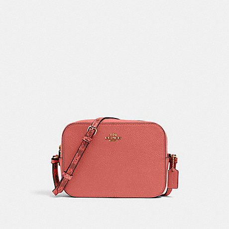 COACH 91903 MINI CAMERA BAG IM/BRIGHT-CORAL-WINE