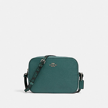 COACH 91903 MINI CAMERA BAG SV/DARK-TURQUOISE