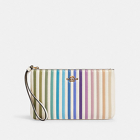 COACH 92283 LARGE WRISTLET WITH OMBRE QUILTING IM/CHALK-MULTI