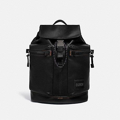 COACH 93849 PACER UTILITY BACKPACK WITH COACH PATCH JI/BLACK