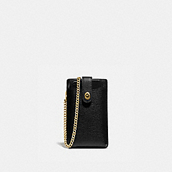 TURNLOCK CHAIN PHONE CROSSBODY - B4/BLACK - COACH 93979
