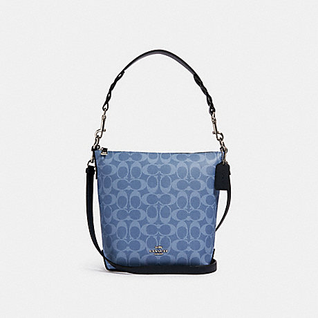 COACH 93999 MINI ABBY DUFFLE IN SIGNATURE CANVAS SV/LIGHT-DENIM