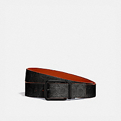 ROLLER BUCKLE CUT-TO-SIZE REVERSIBLE BELT, 38MM - 940 - CHARCOAL/MANGO