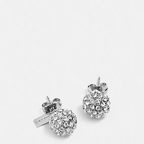 coach stud earrings coach pave stud earrings customer reviews product 854