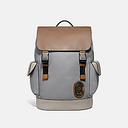 COACH 958 - RIVINGTON BACKPACK IN COLORBLOCK WITH COACH PATCH JI/WASHED STEEL