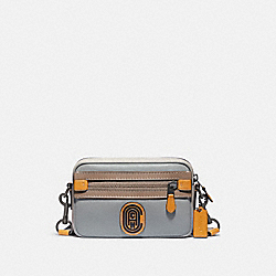 ACADEMY CROSSBODY IN COLORBLOCK WITH COACH PATCH - 960 - JI/WASHED STEEL