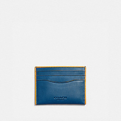 COACH 971 Card Case PACIFIC/POLLEN