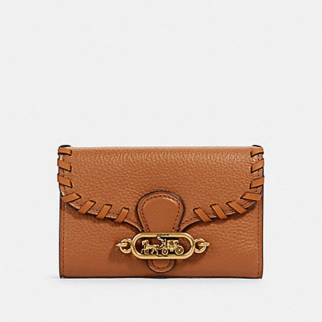 COACH JADE MEDIUM ENVELOPE WALLET WITH WHIPSTITCH - OL/TAUPE - 97755
