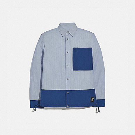 COACH 97836 ESSENTIAL SHIRT BLUE STRIPE