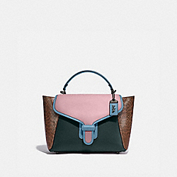 COACH 99313 - COURIER CARRYALL WITH SNAKESKIN DETAIL V5/PNE GRN AURORA MULTI
