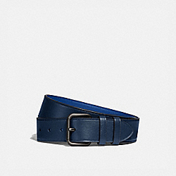 COACH 99434 Roller Buckle Belt, 38mm TRUE NAVY/DEEP SKY