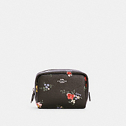 COACH C0040 - MINI BOXY COSMETIC CASE WITH WILDFLOWER PRINT SV/BLACK MULTI