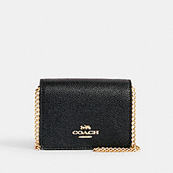COACH C0059 - MINI WALLET ON A CHAIN IM/BLACK