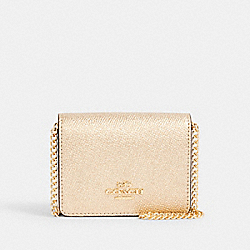 COACH C0059 Mini Wallet On A Chain IM/METALLIC PALE GOLD