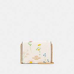 COACH C0061 - MINI WALLET WITH SPACED WILDFLOWER PRINT IM/CHALK MULTI