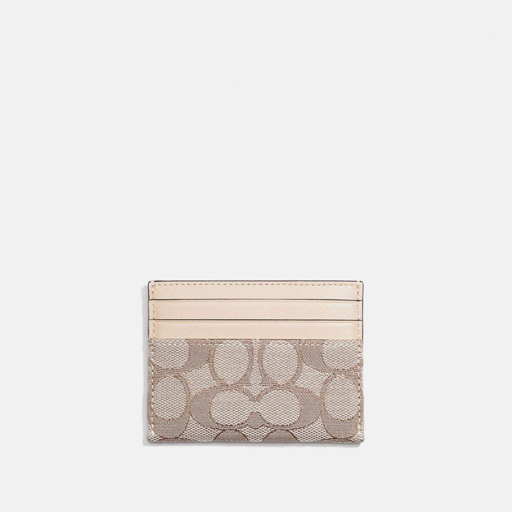 CARD CASE IN SIGNATURE JACQUARD