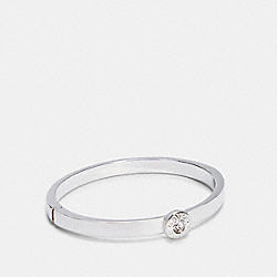 COACH C0199 - OPEN CIRCLE HINGED BANGLE SILVER