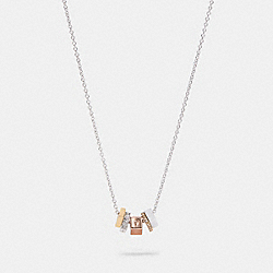TRI COLOR RONDELL NECKLACE - SV/MULTI - COACH C0212