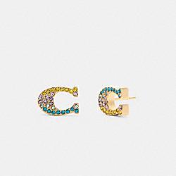 COACH C0247 - SIGNATURE COLOR EXPLOSION STUD EARRINGS GD/MULTI