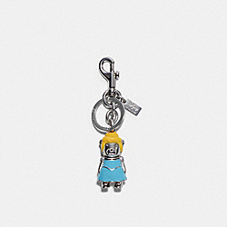 COACH C0266 - DISNEY X COACH CINDERELLA BEAR BAG CHARM SV/BLUE MULTI